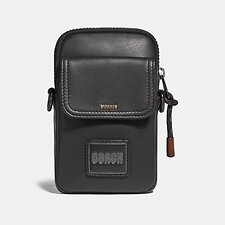 Image of Coach Australia BLK PACER CONVERTIBLE POUCH WITH COACH PATCH