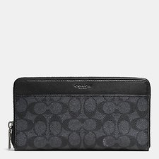 Image of Coach Australia CHARCOAL DOCUMENT WALLET IN SIGNATURE C CANVAS