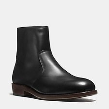 Image of Coach Australia BLACK WEST LEATHER ZIP BOOT