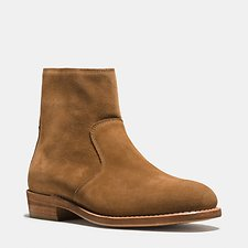 Image of Coach Australia CAMEL WEST SUEDE ZIP BOOT