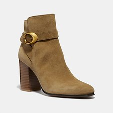Image of Coach Australia PEANUT DELANEY SIGNATURE BUCKLE HEEL BOOTIE