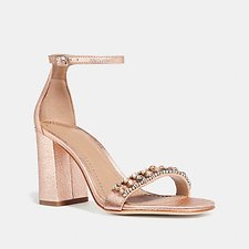 Image of Coach Australia ROSE GOLD MAYA SANDAL WITH STUDS