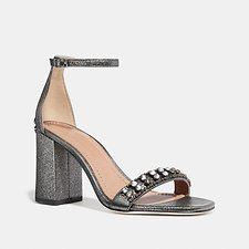 Image of Coach Australia GUNMETAL MAYA SANDAL WITH STUDS