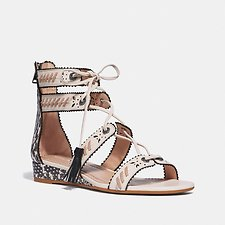 Image of Coach Australia CHALK/NATURAL VIA DEMI WEDGE SANDAL